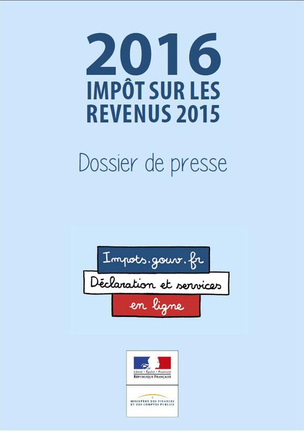 Dossier de presse - Impôts sur les revenus 2016
