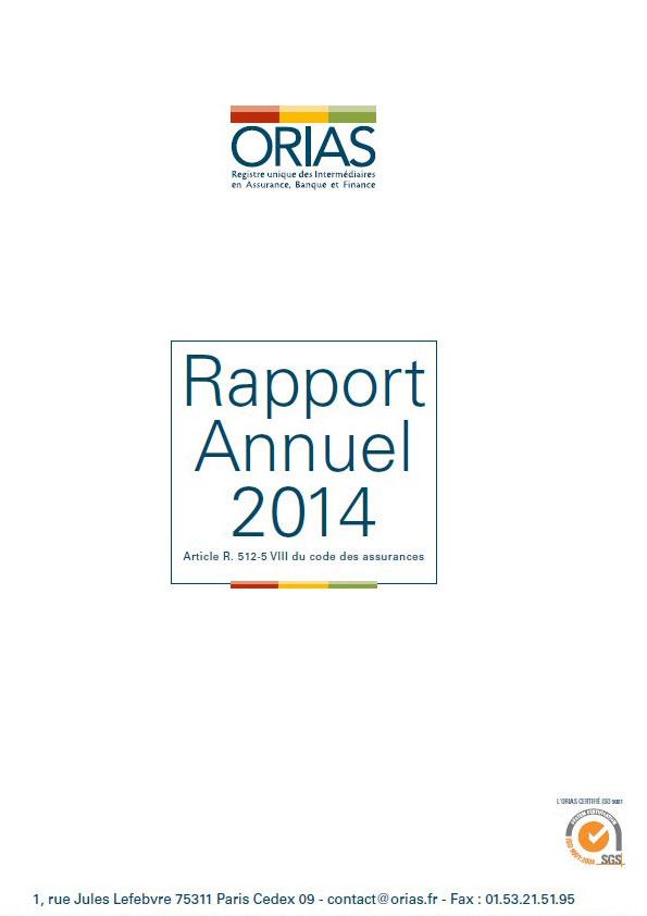 Rapport Annuel 2014 - Orias